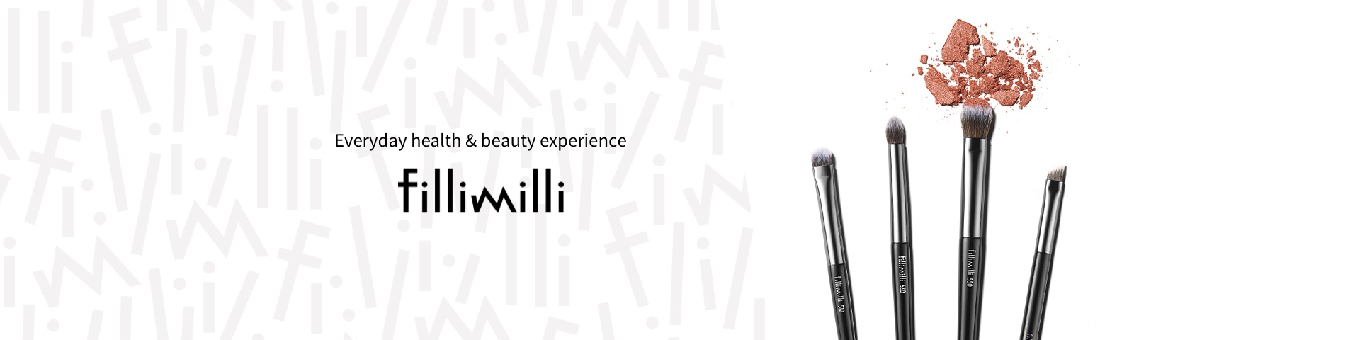 FILLIMILLI BASE EYE SHADOW BRUSH 550 A base shadow brush that lightly applies a natural beige color to large areas.